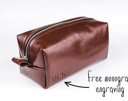 leather toiletry bag travel bag leather dopp kit groomsmen gift custom toiletry