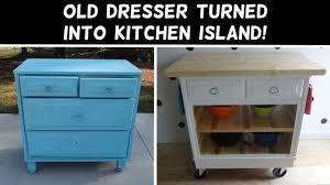 diy kitchen island from dresser. Turn A Dresser Into Kitchen Island! Diy Island From