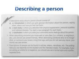describing people writing describing people