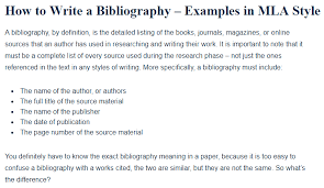 Speech Sample Fascinating How To Write A Bibliography Examples In MLA Style A Research