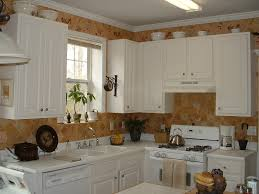 Kitchen Above Cabinet Decor Kitchen And Dining Room Design Classic White Wooden Wall Cabinet