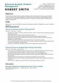Actuary Resume Inspiration Actuary Resume Sample Entry Level New Entry Level Actuary Resumes