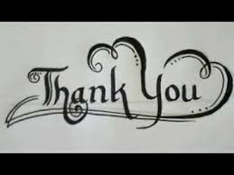 Calligraphy Examples Of Thank You Letter - Youtube