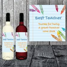 best teacher personalised wine