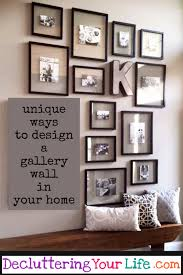 diy gallery wall ideas and accent wall layouts for family photos and pictures diyhomedecor