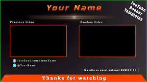 Youtube Template Psd Youtube Video Template Cute Models Free Outro Template Psd 1