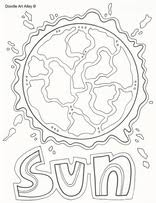 Small Picture sun colouring page Space Our Solar System Pinterest
