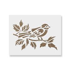 Branch Template Bird On Branch Stencil Template For Walls And Crafts Reusable Stencils For Painting In Small Large Sizes