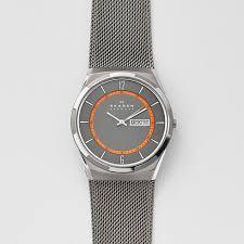 mens titanium watches skagen melbye steel mesh and titanium case multifunction watch