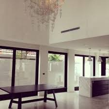 calacatta marble kitchen waterfall: calcutta marble kitchen polished concrete floors