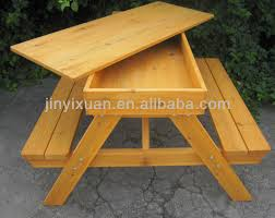 incredible picnic wooden table wooden picnic table and bench with sandpit outdoor table