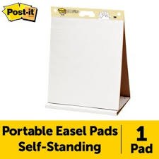 Flip Chart Pads Walmart Post It Super Sticky Portable Easel Pad Flip Chart 15 X 18 Inches Re Stickable White