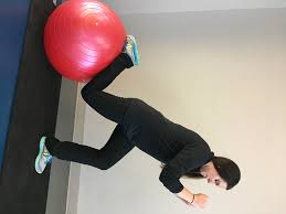 workout of the week stability ball strength anschutz health and n split squat