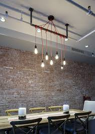industrial lighting for the home. Home Industrial Lighting System With Orange Wire Hanging On Ceiling For The A