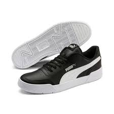 puma caracal men shoes colour black material leather with pumas