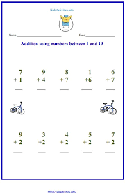 addition to 10 worksheets with pictures | Kids Activities