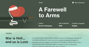 a farewell to arms documents course hero