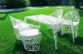 retro metal outdoor chairs patio set on grass retro metal patio furniture retro metal patio chairs