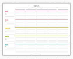 Free Printable Weekly Lesson Plan Template Vastuuonminun