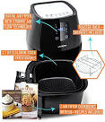 Cozyna SAF-32 Digital Air Fryer Touchscreen (3.7QT) utilizing 2 Airfryer Cookbooks and a Skewer sheet Accessory