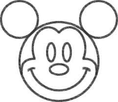 ミッキーマウスのイラストの簡単な書き方