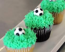 Soccer Ball Icing Decorations Soccer ball cupcake Etsy 81