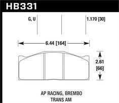 Hawk Pads Chart Ebay Sponsored Hawk Hb221u 787 Disc Brake Pad Dtc 70 W