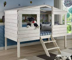 House Bunk Bed Twin Size Tree House Low Loft Bed In Rustic Sand Finish 1380tlrs