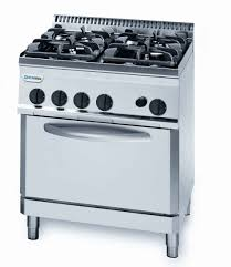 Oven Gas Stove Tecnoinox Pf70gg7 4 Burner Gas Range With 2 1gn Gas Oven