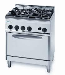 Gas Range With Gas Oven Tecnoinox Pf70gg7 4 Burner Gas Range With 2 1gn Gas Oven
