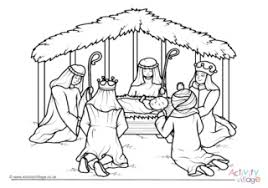 Nativity coloring pages with quotes from the king james bible: Nativity Colouring Pages