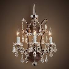 popular wall sconce lamp light modern art decor vintage crystal chandelier in wall mounted mini chandeliers