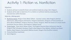 Fiction Vs Nonfiction Venn Diagram Penguin Constructivist Unit Ppt Download