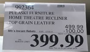 pulaski furniture leather home theater power recliner costco sofa cleaner ana white table bright reclining