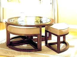 interior surprising round coffee table with 4 ottomans about remodel small home ideas dakota chrome and