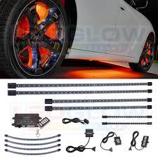 Orange Wheel Lights Details About Ledglow 4pc Orange Led Underglow Kit 4pc Wheel Well 2pc Interior Lights