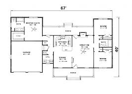 Bedroom House Plans Ranch Style With 3 Rambler Floor House Plans Ranch