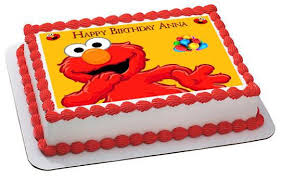 Elmo Edible Cake And Cupcake Topper Edible Prints On Cake Epoc