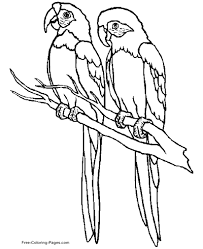 Small Picture Coloring Pages of Birds