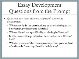 week introducing essay ppt essay development questions from the prompt
