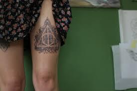 татуировка дары смерти гарри поттер Tanyastattoo