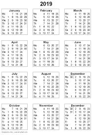 Week Number Calendar Free Printable Calendars And Planners 2019 2020 2021