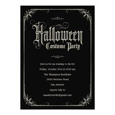 Vintage Formal Halloween Costume Party Invitation Card