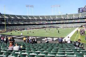 Oakland Coliseum Interactive Seating Chart Ringcentral Coliseum Section 103 Home Of Oakland Raiders
