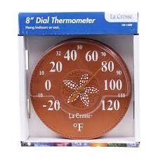 la crosse decorative indoor outdoor thermometer 8in