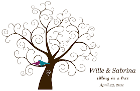 guest book template free downloadable fingerprint tree guestbook offbeatbride clip art