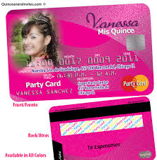 Credit Card Party Invitations Credit Card Sweet 15 Invitations