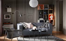 ikea sitting room furniture. A Small Grey And Orange Living Room With The KLIPPAN 2-seat Sofa In Dark Ikea Sitting Furniture E