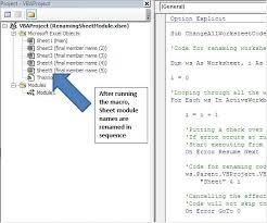 Rename The Worksheet Module Name Using Vba In Microsoft Excel