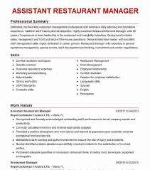 Restaurant Manager Resume Skills Assistant Restaurant Manager Resume Sample Livecareer